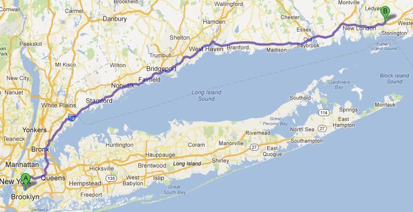 2-NY-Mystic, 216 km