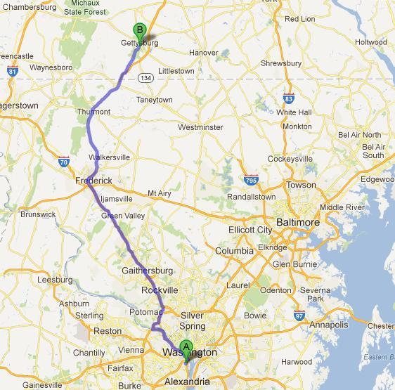 10-Gettysburg-Washington, 133km