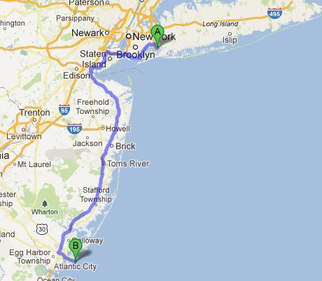 12-Atlantic City-JFK, New York, 226 km