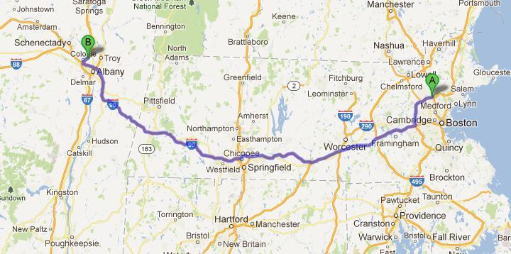 4-Boston-Albany, 290 km