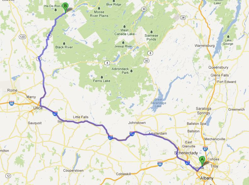 5-Albany-Old Forge, 221 km