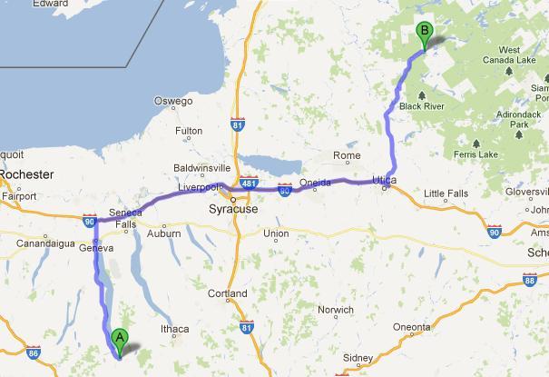 6-Old Forge-Montour Falls, 284 km